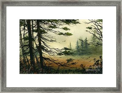 Misty Tideland Forest Framed Print by James Williamson