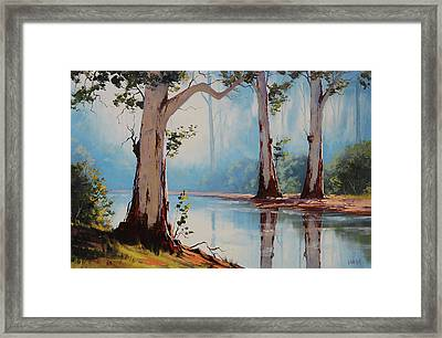 Misty Trees Framed Print