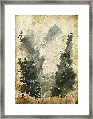 Misty Valley Altered Framed Print by Sean Seal