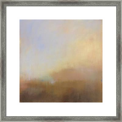 Misty View From Above Framed Print