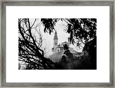 Misty View Of Monserrate Church Framed Print by Jess Kraft