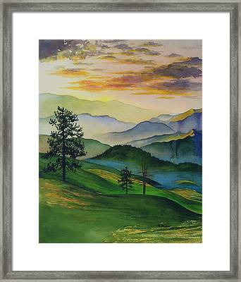 Misty Vista Framed Print