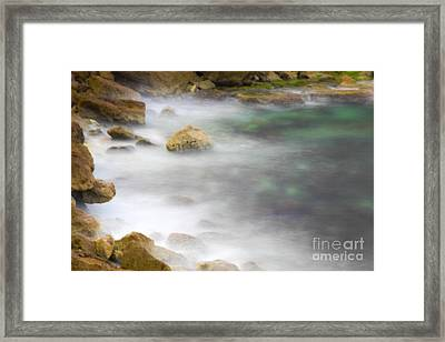 Misty Water Spray 2 Framed Print by Vladi Alon