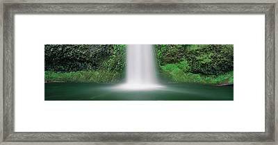 Misty Waterfall Framed Print by Panoramic Images