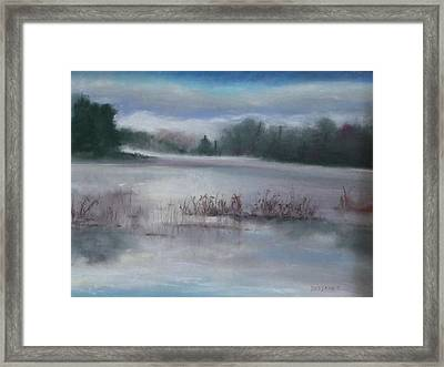 Misty Waters Framed Print by Linda Dessaint