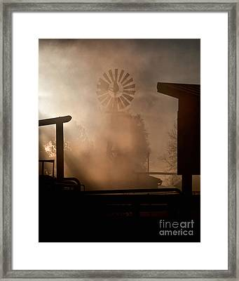 Framed Print featuring the photograph Misty Windmill by Steven Reed