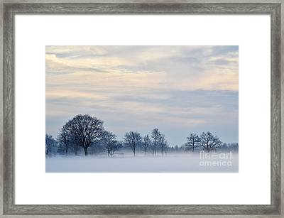 Framed Print featuring the photograph Misty Winter Day by Kennerth and Birgitta Kullman