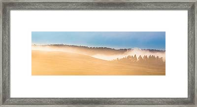 Misty Yellowstone   Framed Print