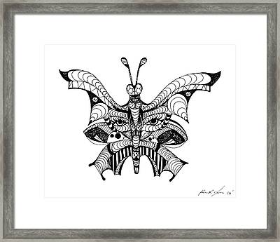Misunderstood Butterfly Framed Print by Kenal Louis