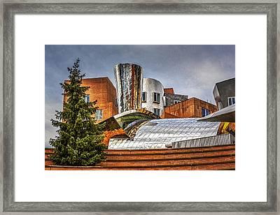 Mit Stata Building Center - Cambridge Framed Print by Susan Candelario