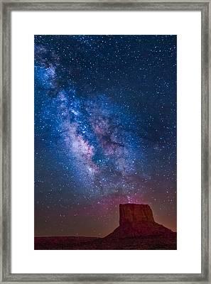 Mitchell Butte Milky Way Framed Print