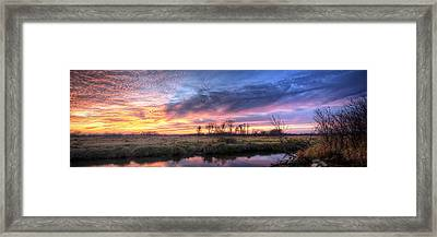 Mitchell Park Sunset Panorama Framed Print by Scott Norris