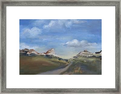 Mitchell Pass Western Nebraska Framed Print by Leigh Morrison