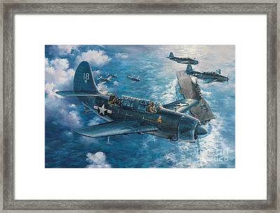 Mitscher's Hunt For The Rising Sun Framed Print by Randy Green