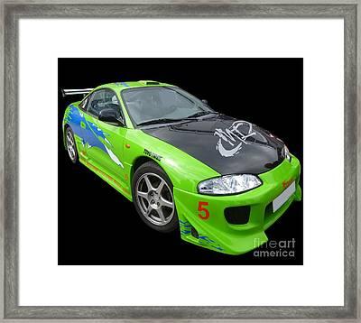 Mitsubishi Eclipse II Framed Print by Vicki Spindler