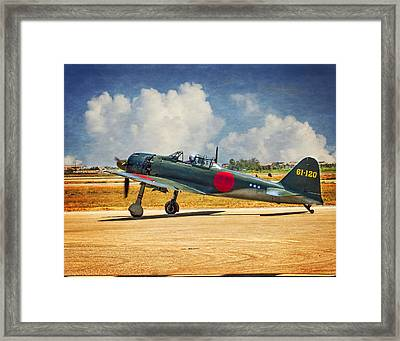 Mitsubishi Zero Fighter Framed Print by Steve Benefiel
