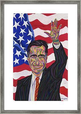 Mitt Romney Framed Print by Robert SORENSEN