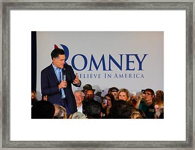 Mitt Romney Framed Print by Joseph C Hinson Photography