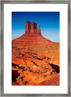 Mitten Butte Framed Print
