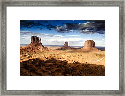 Mittens At Monument Valley - Arizona Framed Print