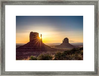 Mittens Sunrise Framed Print