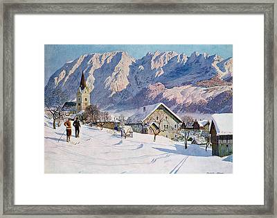 Mitterndorf In Austria Framed Print