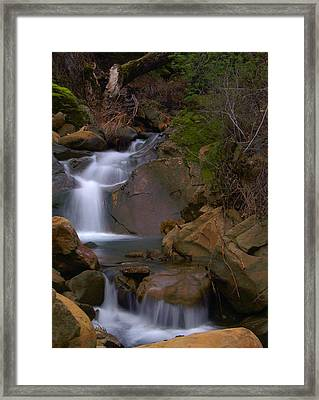 Mix Canyon Creek Framed Print by Bill Gallagher