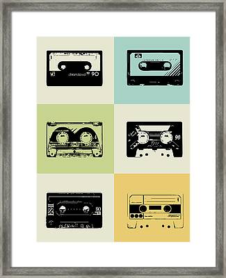 Mix Tape Poster Framed Print by Naxart Studio