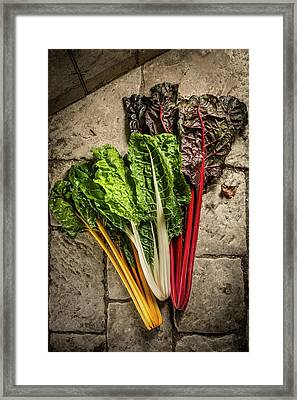 Mixed Chard Framed Print
