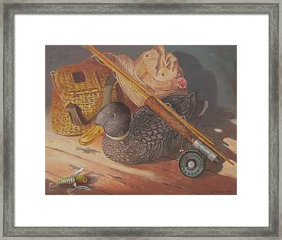 Framed Print featuring the painting Mixed Emotions by Tony Caviston