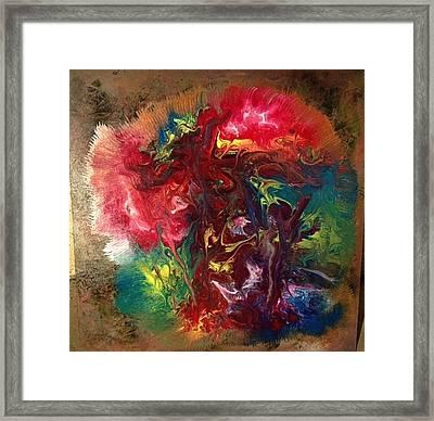 Mixed Media Abstract Post Modern Art By Alfredo Garcia Bizarre Framed Print