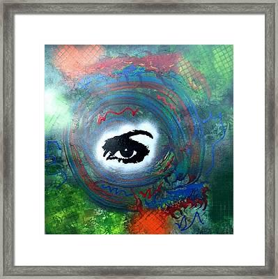 Mixed Media Abstract Post Modern Art By Alfredo Garcia Eye See You Framed Print