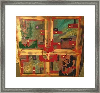 Mixed Media Abstract Post Modern Art By Alfredo Garcia The Blond Bombshell 3 Framed Print