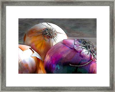 Mixed Onions Framed Print