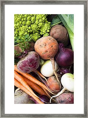 Mixed Veg Framed Print by Anne Gilbert