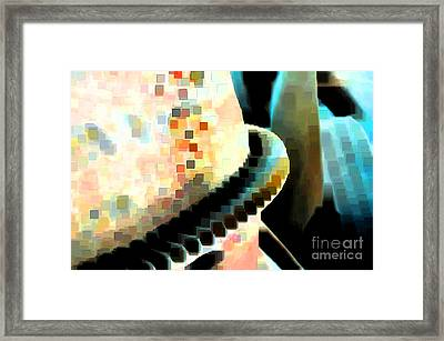 Mixing Cement Framed Print by Gwyn Newcombe