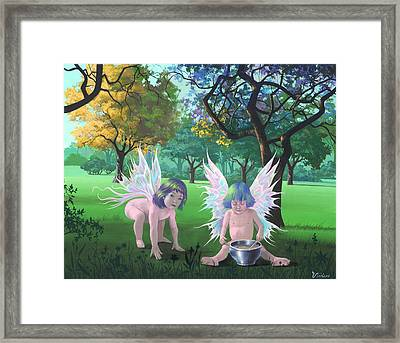 Mixing Magic Framed Print