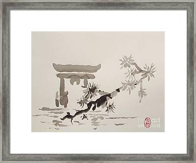 Miyajima De No Torii Framed Print