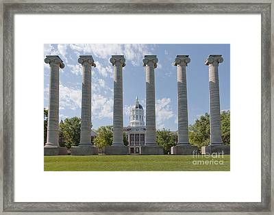 Mizzou Jesse Hall And Columns Framed Print