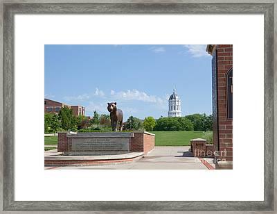 Mizzou Tiger Plaza Framed Print