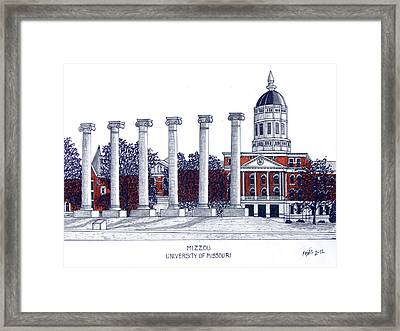 Mizzou - University Of Missouri Framed Print by Frederic Kohli