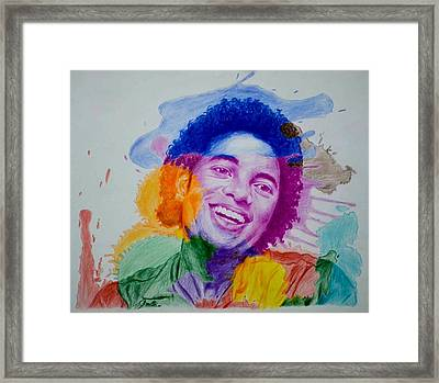 Mj Color Splatter Framed Print