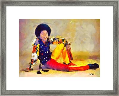 Mj - King Of Pop Framed Print by Wayne Pascall