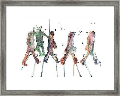 M.j. On Abbey Road Framed Print by Jody Thompson