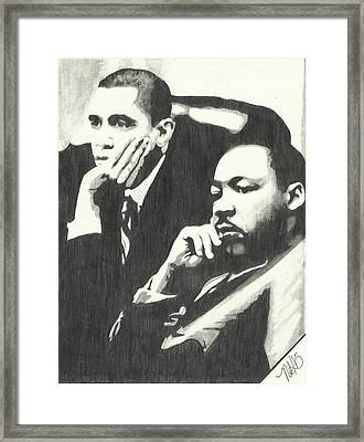 Mlk And President Obama Framed Print by Pics By Nick