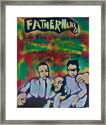 Mlk Fatherhood 1  Framed Print