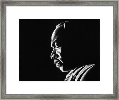 Mlk Memorial Framed Print by Jeff Stroman