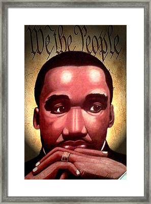 MLK Framed Print by Victor Carrington