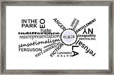 M L K J R 2015 Framed Print