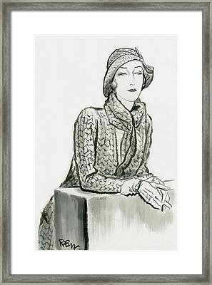 Mlle. De L'espee Framed Print